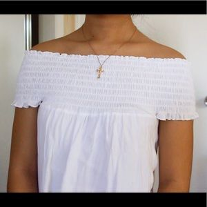 Brandy Melville Tops - White Seymour smocked top